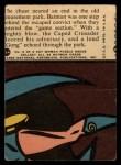 1966 Topps Batman Red Bat #21 RED  Batman Wins a Prize Back Thumbnail