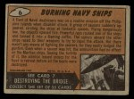 1962 Mars Attacks #6   Burning Navy Ships  Back Thumbnail