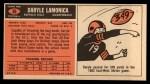 1965 Topps #36  Daryle Lamonica  Back Thumbnail