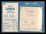 1961 Topps #30  Dan Lewis  Back Thumbnail