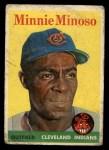 1958 Topps #295  Minnie Minoso  Front Thumbnail