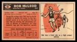 1965 Topps #82  Bob McLeod  Back Thumbnail