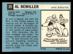 1964 Topps #25  Al Bemiller  Back Thumbnail