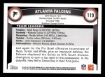 2011 Topps #119   Falcons Team Back Thumbnail