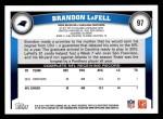 2011 Topps #97  Brandon LaFell  Back Thumbnail