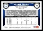 2011 Topps #108  Delone Carter  Back Thumbnail