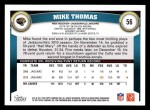 2011 Topps #56  Mike Thomas  Back Thumbnail