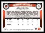 2011 Topps #21  Jermaine Gresham  Back Thumbnail