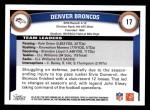 2011 Topps #17   Broncos Team Back Thumbnail