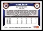 2011 Topps #81  Steve Smith  Back Thumbnail
