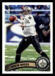 2011 Topps #100  Drew Brees   Front Thumbnail