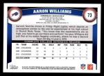 2011 Topps #73  Aaron Williams  Back Thumbnail