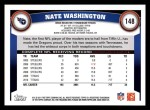 2011 Topps #148  Nate Washington  Back Thumbnail
