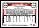 2011 Topps #155  Kendall Hunter  Back Thumbnail
