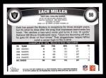 2011 Topps #98  Zach Miller  Back Thumbnail