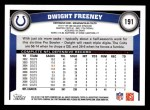 2011 Topps #191  Dwight Freeney  Back Thumbnail
