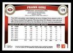 2011 Topps #120  Frank Gore  Back Thumbnail