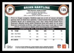 2011 Topps #135  Brian Hartline  Back Thumbnail