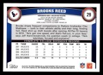 2011 Topps #29  Brooks Reed  Back Thumbnail
