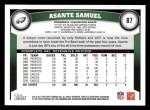 2011 Topps #87  Asante Samuel  Back Thumbnail
