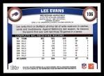 2011 Topps #106  Lee Evans  Back Thumbnail