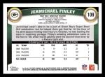 2011 Topps #109  Jermichael Finley  Back Thumbnail