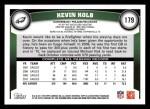 2011 Topps #179  Kevin Kolb  Back Thumbnail