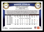 2011 Topps #114  Darren Sproles  Back Thumbnail