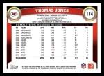 2011 Topps #174  Thomas Jones  Back Thumbnail