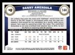 2011 Topps #144  Danny Amendola  Back Thumbnail
