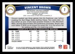 2011 Topps #7  Vincent Brown  Back Thumbnail