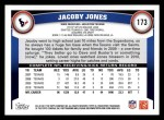 2011 Topps #173  Jacoby Jones  Back Thumbnail
