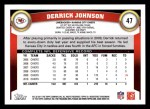 2011 Topps #47  Derrick Johnson  Back Thumbnail