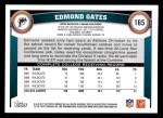 2011 Topps #165  Edmond Gates  Back Thumbnail