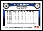 2011 Topps #79  Keith Brooking  Back Thumbnail