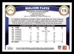 2011 Topps #115  Malcom Floyd  Back Thumbnail