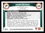 2011 Topps #226   Dolphins Team Back Thumbnail