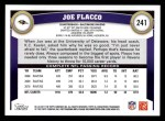 2011 Topps #241  Joe Flacco  Back Thumbnail