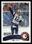 2011 Topps #240   -  Tom Brady Most Valuable Player Front Thumbnail