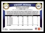 2011 Topps #431  Vincent Jackson  Back Thumbnail