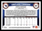 2011 Topps #307  Cortland Finnegan  Back Thumbnail