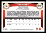 2011 Topps #257  Eric Berry  Back Thumbnail