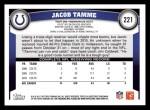 2011 Topps #221  Jacob Tamme  Back Thumbnail