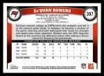 2011 Topps #397  Da'Quan Bowers  Back Thumbnail