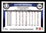 2011 Topps #300  Peyton Manning  Back Thumbnail