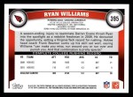 2011 Topps #395  Ryan Williams  Back Thumbnail