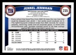 2011 Topps #235  Jerrel Jernigan  Back Thumbnail
