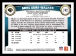 2011 Topps #332  Mike Sims-Walker  Back Thumbnail