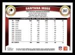 2011 Topps #287  Santana Moss  Back Thumbnail