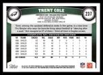 2011 Topps #237  Trent Cole  Back Thumbnail